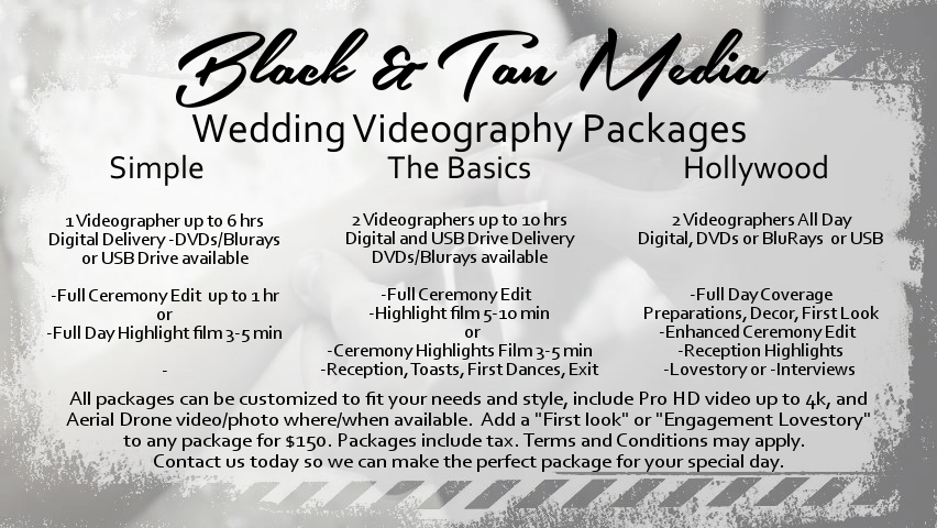 Video Packages NO Prices